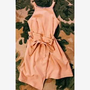 Anthropologie Pink Summer Wrap Dress